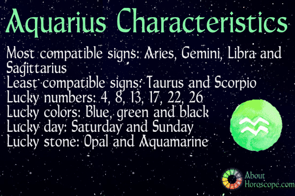 Aquarius Horoscope: Aquarius Zodiac Sign Dates Compatibility ...